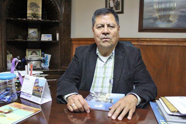 Monseñor José Luis Escamilla, encargado del Santuario de Cristo Rey.