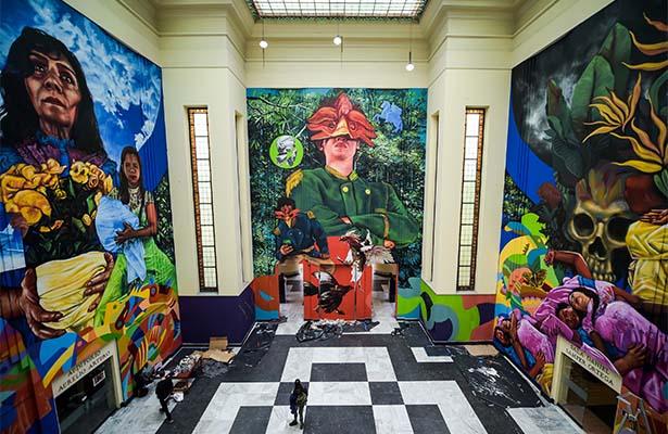 """Con arte urbano Colombia celebra """"Cien años de soledad"""""""
