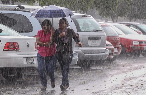 Prevén amplias zonas de tormenta en gran parte del territorio nacional