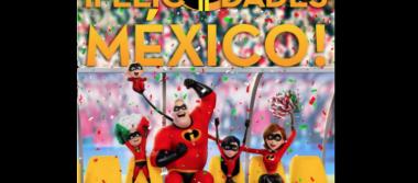 Los Increíbles  festejan triunfo de Selección Mexicana
