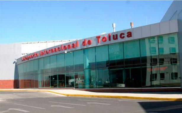 Aumenta 22% flujo en Aeropuerto de Toluca