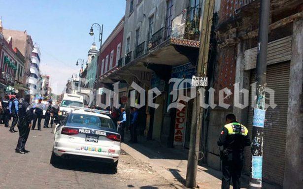 Se registra balacera en pleno Centro Histórico de Puebla