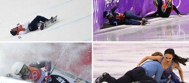 [Video] Raspones y moretones: las dolorosas caídas de los deportistas en Pyeongchang 2018
