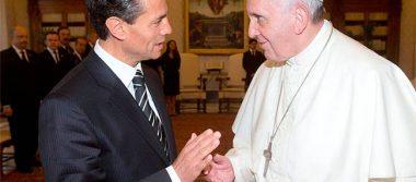 Papa Francisco apoya prevención de desastres en carta enviada a EPN