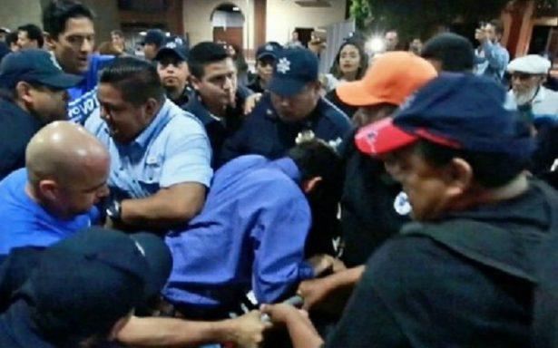 Detienen a cinco en intento de desalojo de panistas en su plantón en Monterrey