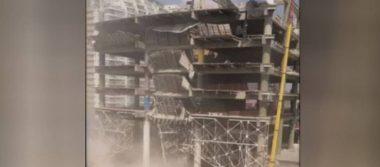 Colapsa parte de edificio en demolición en la delegación Miguel Hidalgo