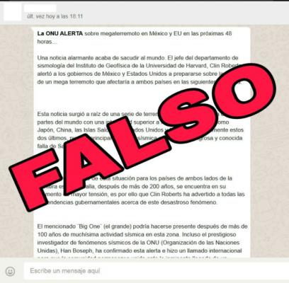 Piden no compartir información falsa