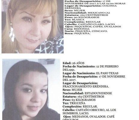 Desaparecen madre e hija del Fraccionamiento Eréndira