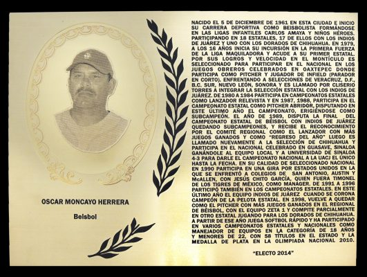 Luto en el beisbol juarense, murió Óscar Moncayo