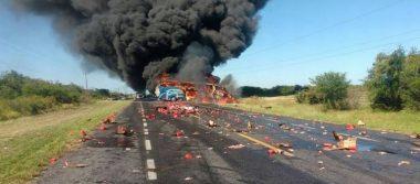 Mortal choque en la carretera Victoria-Monterrey