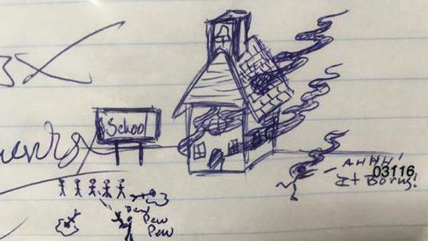 Este dibujo para ayudar a su hijastro lo llevó a la cárcel