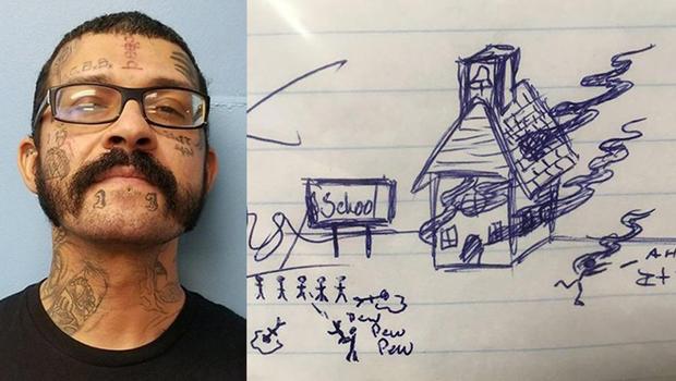 Hombre es arrestado por dibujar un tiroteo en la escuela de su hijastro