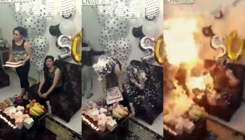 [Video] | Joven se prende en llamas tras cantar 'Cumpleaños feliz'