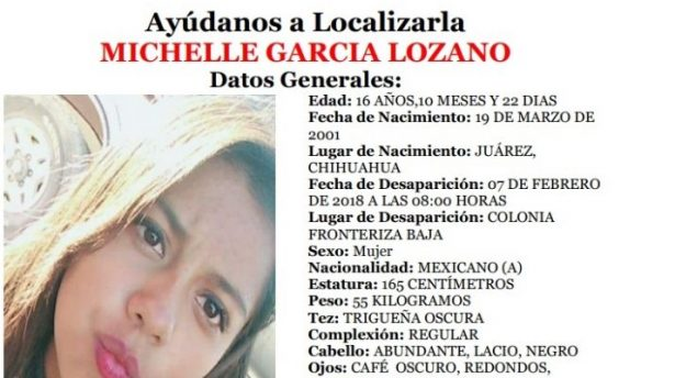 Localizan a Michelle García