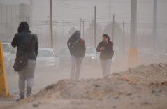 Vientos fuertes y tolvaneras se presentaron en Juárez