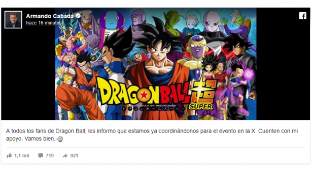 Alcanza 'fiebre' de Dragon Ball Super a políticos