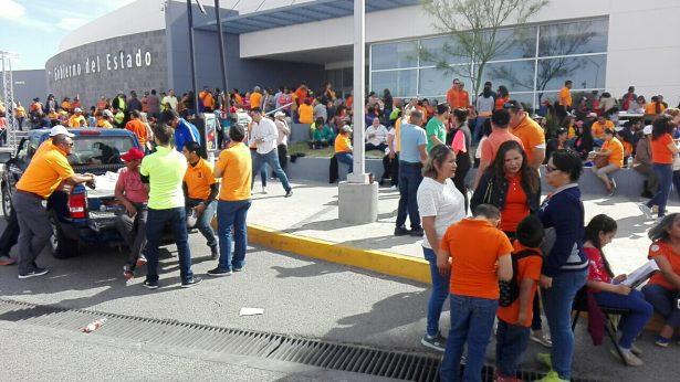 #Galería | Toman maestros del SNTE Sección 42 oficinas de Gobierno del Estado
