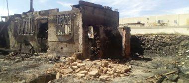 Murieron quemadas mascotas en incendio de cuatro viviendas