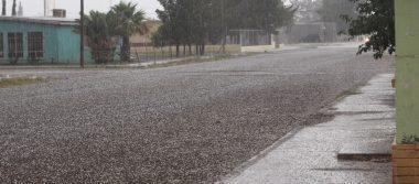 Sorprende granizada y lluvia a ahumadenses