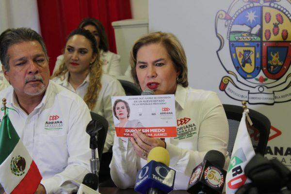 Propone Terrazas convertir a Juárez en un estado de la República