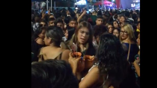 [VIDEO] Graban riña entre mujeres en la Feria Juárez 2018