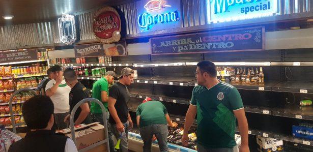 Después de celebrar, se acaban cerveza en supermercados