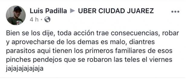 Chofer de Uber se burla de pareja de ancianitos asesinados