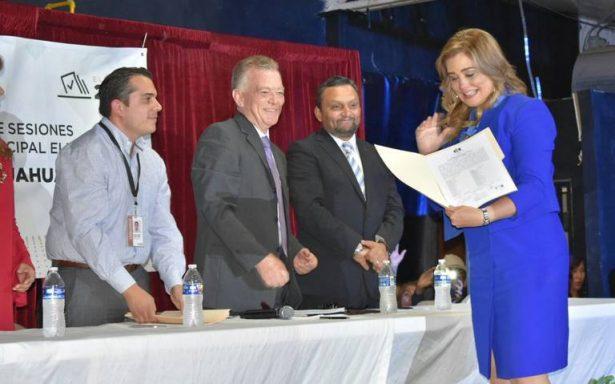 Recibe Maru Campos constancia como Alcaldesa de Chihuahua