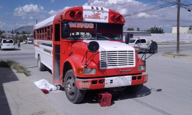 Niño muere atropellado por camión de transporte