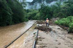 [GALERÍA] Deslaves e inundaciones en la ruta del Chepe