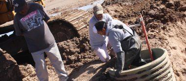 Inicia JMAS reposición de drenaje colapsado