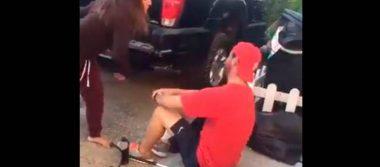 """Redes """"estallan"""" contra #LadyDepartamentos tras golpear a joven con discapacidad"""
