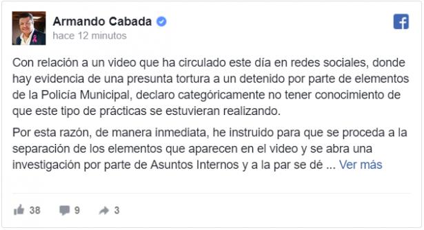 Responde alcalde ante filtración de video