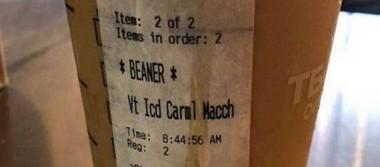 """Empleado de Starbucks escribe """"Frijolero"""" en café de un latino, en California"""