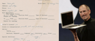 Subastan solicitud de empleo que entregó Steve Jobs antes de fundar Apple