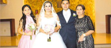 Celebraron su enlace nupcial, Luis y Carolina