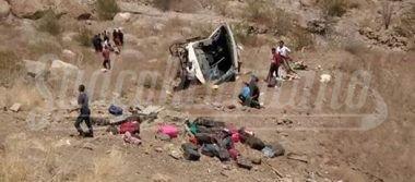 42 heridos en accidente de autobús en el que viajaban estudiantes, en Mulegé