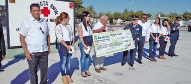 Entregó el Ejército su aportación económica a la Cruz Roja
