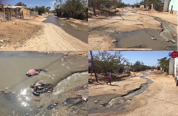 Sin atender derrame de aguas negras en colonia Tierra y Libertad