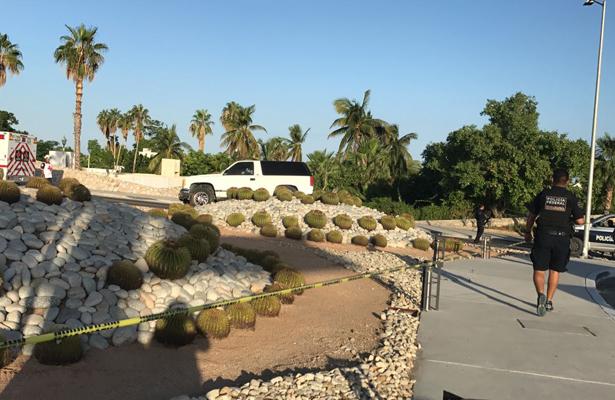 Balacera en la glorieta Fonatur, en San José del Cabo