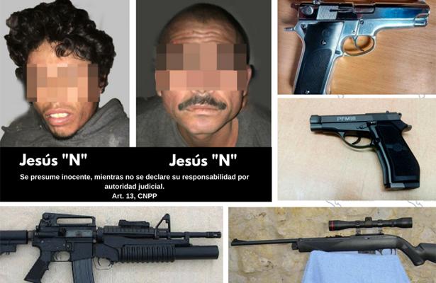 Golpe a la delincuencia: Aseguran armamento y a 2 personas