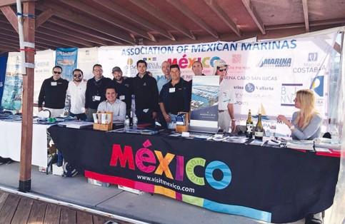 Enrique Salcedo, el presidente de la AMMT, participó en el Boat Show de San Diego California promocionando los servicios que se brindan en las mismas. Cortesía / El Sudcaliforniano