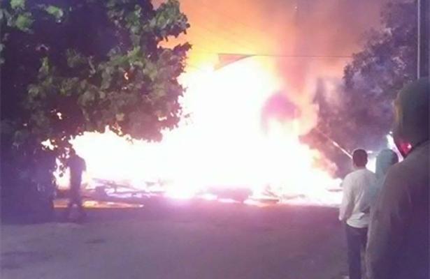 [Video] Incendio en el centro de Santa Rosalía