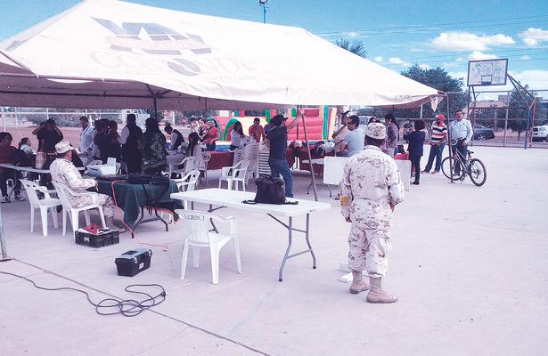 Jornadas sociales en el parque de la colonia popular Ricardo Covarrubias