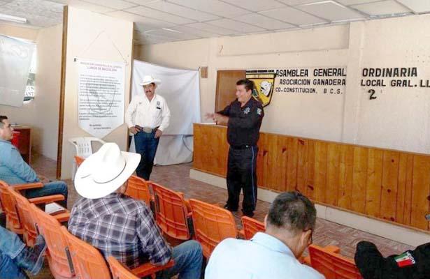 En el Valle de Santo Domingo informan sobre programa  de ganaderos vigilantes