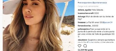 Visita La Paz Michelle Salas, hija de Luis Miguel