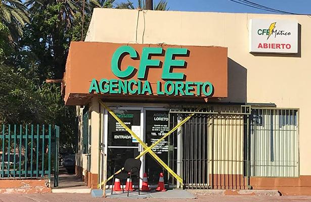 Asaltan agencia de CFE en Loreto
