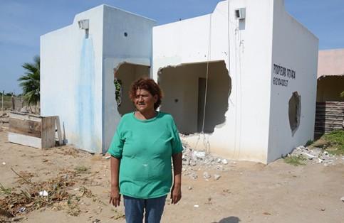 Destruyen casa de humilde señora en Comondú