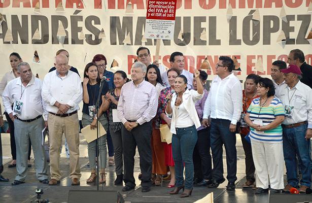 [Video] Así fue la visita de AMLO en La Paz