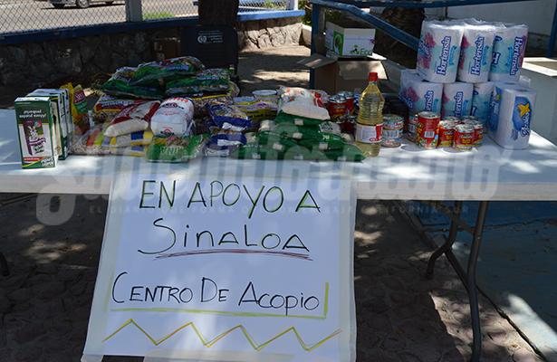 Abren más centros de acopio para damnificados de Sinaloa